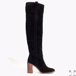 Madewell Jimi Over the Knee Boots (Black, 9.5)